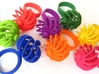 Fidget Ring - Turbine spinner ring 3d printed Available in all dyed strong and flexible plastics