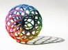 Bowl - Colorful Spectrum in Full Color Sandstone 3d printed The Spectrum Bowl by seriaforma is a beautiful accessory for your home in Full Color Sandstone.