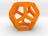 Dodecahedron charm Large 3d printed