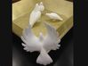 Bird No 4 (Doves) 3d printed Back View