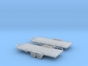 Flatbed Trailers X2 HO Scale 1/87 3d printed