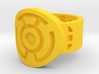 Sinestro FF Ring (Sz's 5-15) 3d printed