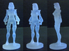 Carly homage Space Woman 1.89inch Transformers Min 3d printed 1.89 inch Carly printed in Frosted Ultra Detail