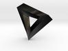 Impossible Pendant! 3d printed Matte Black Steel