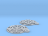 Snowflake Earrings (Plate) 3d printed
