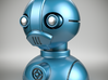 'Robust' robot bust design, model M7-001 3d printed 3D render with a metallic impression