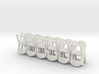 Folding Chairs HO Scale X12 3d printed