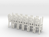 Cafe  Chair style 2 HO Scale X12 3d printed