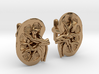Anatomical Kidney Cufflinks 3d printed