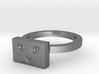 Cat Face Ring 3d printed