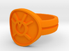 Orange Avarice Double Banded Sz 9 3d printed