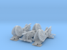 1/160 de Bange cannon transported by train 3d printed
