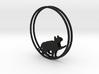 Give Me Some Food Cat Hoop Earrings 40mm 3d printed
