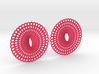 Curvy Hoop Earrings 50mm 3d printed