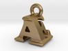 3D Monogram Pendant - AEF1 3d printed