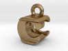 3D Monogram Pendant - CEF1 3d printed