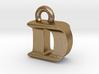 3D Monogram Pendant - DIF1 3d printed