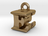 3D Monogram Pendant - EHF1 3d printed