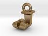 3D Monogram Pendant - JJF1 3d printed