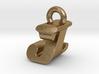 3D Monogram Pendant - JZF1 3d printed