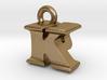 3D Monogram Pendant - KPF1 3d printed