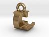 3D Monogram Pendant - LCF1 3d printed