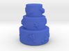 3 stair cake with shells 3d printed