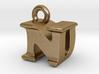 3D Monogram Pendant - NDF1 3d printed