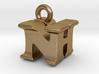 3D Monogram Pendant - NHF1 3d printed