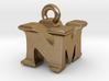 3D Monogram Pendant - NMF1 3d printed