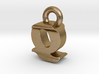 3D Monogram - QIF1 3d printed