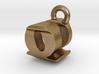 3D Monogram - QUF1 3d printed