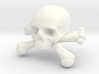 12mm .47in Skull & Bones for earring 3d printed