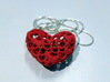 Heart by Heart 35mm Pendant. 3d printed 66 small hearts maked a full Heart