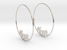 Hashtag Love Hoop Earrings 60mm 3d printed