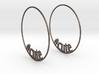 Hashtag Cute Big Hoop Earrings 60mm 3d printed