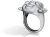 Ring Buddha 3d printed