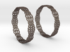 Wired Beauty 2 Hoop Earrings 50mm 3d printed