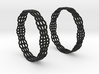 Wired Beauty 2 Hoop Earrings 50mm 3d printed