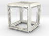 Cube Geometry perspectivity sculpture 3d printed