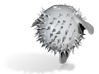 puffer fish lopoly 3d printed