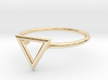 Open Triangle Ring Sz. 5 3d printed