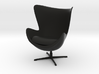 Egg Chair by Arne Jacobsen 3d printed