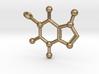 Caffeine Molecule Keychain 3d printed