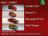 SET 4x 1970s cars (set A) 3d printed