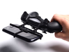 PS4 controller & Alcatel Idol X+ 3d printed In hand - A Samsung Galaxy S3 and a black PS4 controller