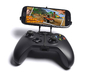 Xbox One controller & XOLO A700s 3d printed Front View - A Samsung Galaxy S3 and a black Xbox One controller