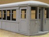 Baldie Original Style Doors 3d printed Side view of car with original style doors, primed.