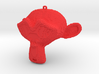 """Suzanne Pendant """"Cube-Crafted"""" Style 3d printed"""