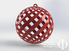 Holiday Decoration Loxo Ball 3d printed Render shown in shiny red plastic